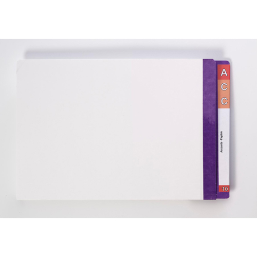 LATERAL FILE :: AVERY FC WHITE W/-PURPLE TAB