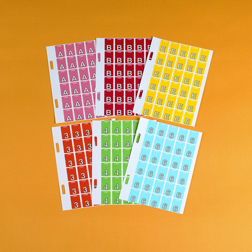 COLOUR CODE LABEL ::  AVERY TOP TAB '#0' PINK 20 x 30