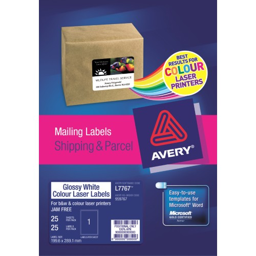LABELS :: AVERY L7767-25 GLOSSY 1up