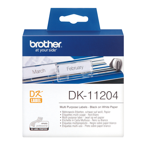 BROTHER LABELS DK-11204 17x54mm WHITE